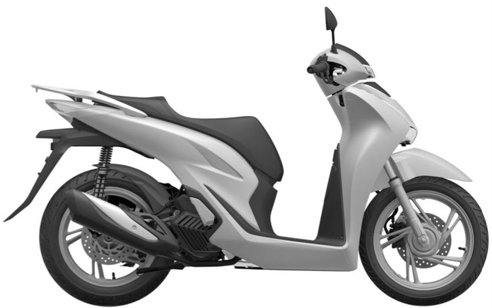 Honda SH 150i teve desenho renovado — Foto: Inpi