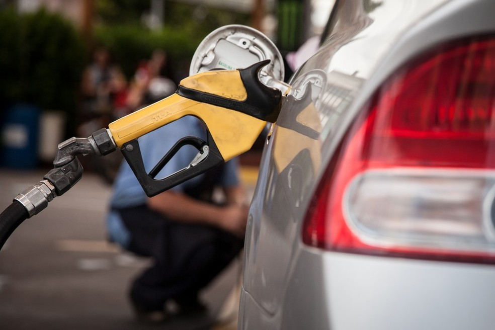 Preços dos combustíveis recuaram nos postos — Foto: Marcelo Brandt / G1