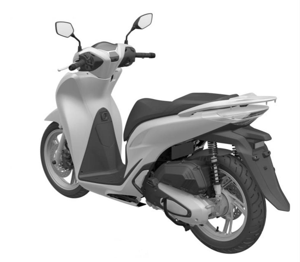 Detalhes do novo Honda SH 150i — Foto: Inpi