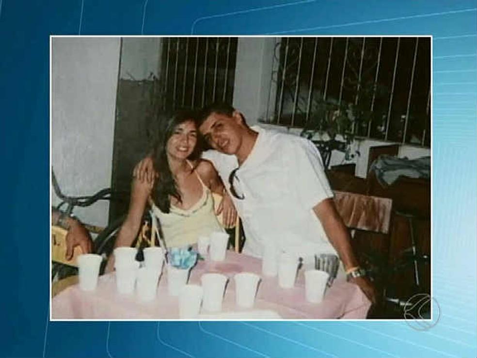 Jomara e o ex-marido, que foi condenadop a 22 anos de prisão em regime fechado — Foto: Reprodução/ TV Integração