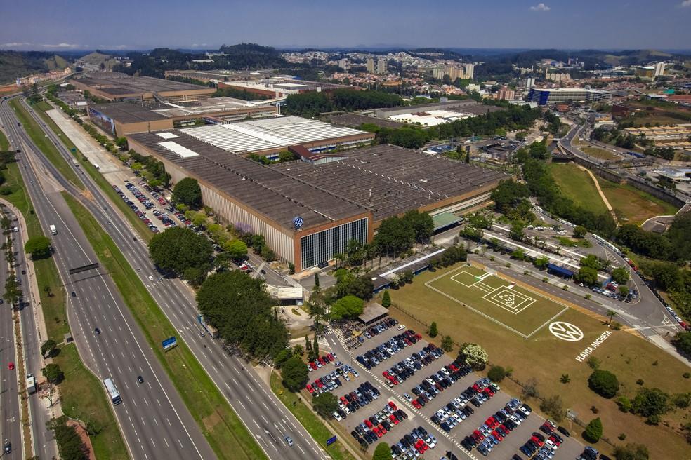 Fábrica da Volkswagen em São Bernardo do Campo (SP) — Foto: Divulgação