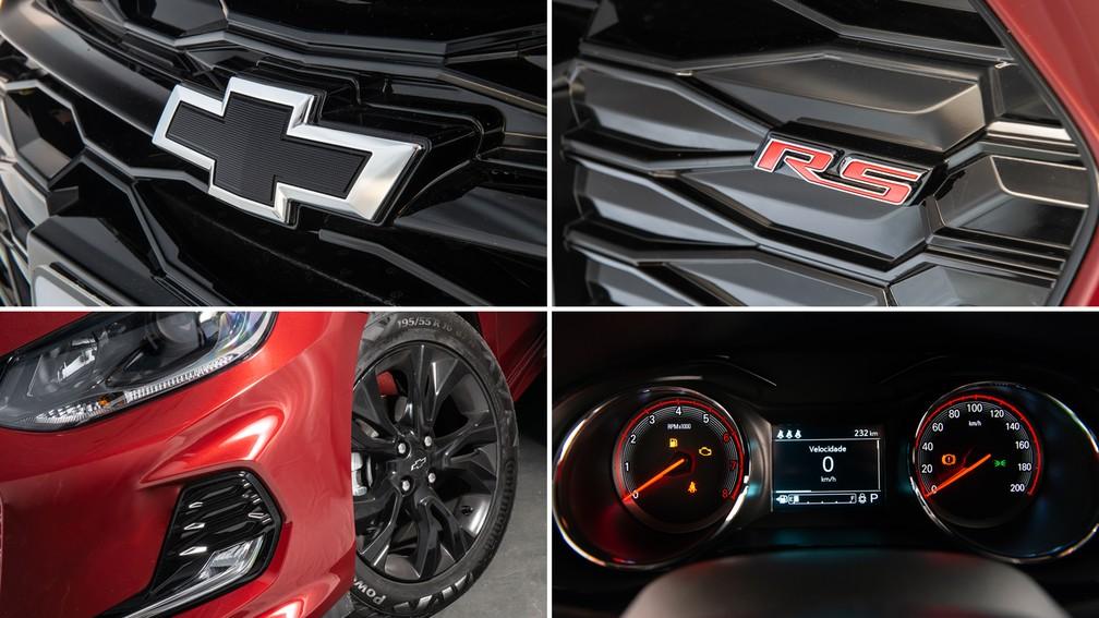 Detalhes do Chevrolet Onix RS — Foto: Divulgação