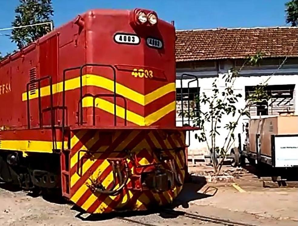 A locomotiva do Circuito Ferroviário Vale Verde (CFVV) — Foto: Circuito Ferroviário Vale Verde (CFVV)