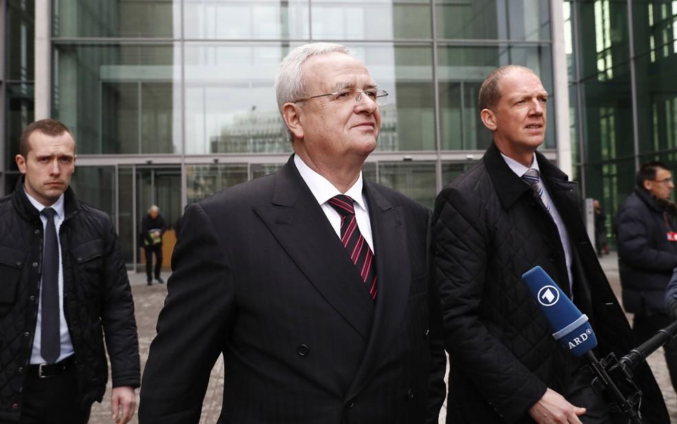 Martin Winterkorn, ex-presidente da Volkswagen, em imagem de 2017 — Foto: Odd Andersen/AFP