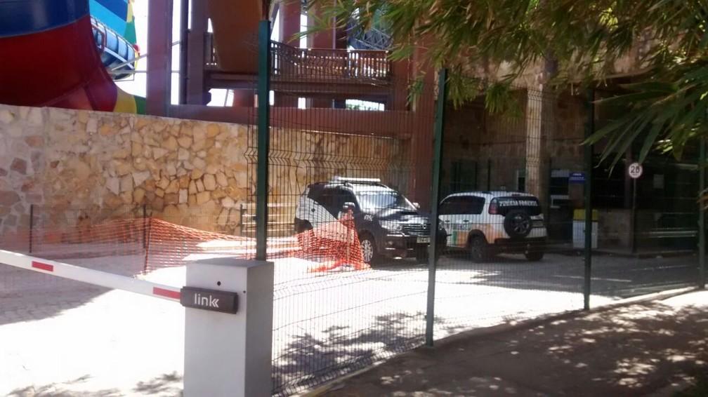Beach Park está fechado um dia após o acidente em brinquedo — Foto: Valdir Almeida/G1