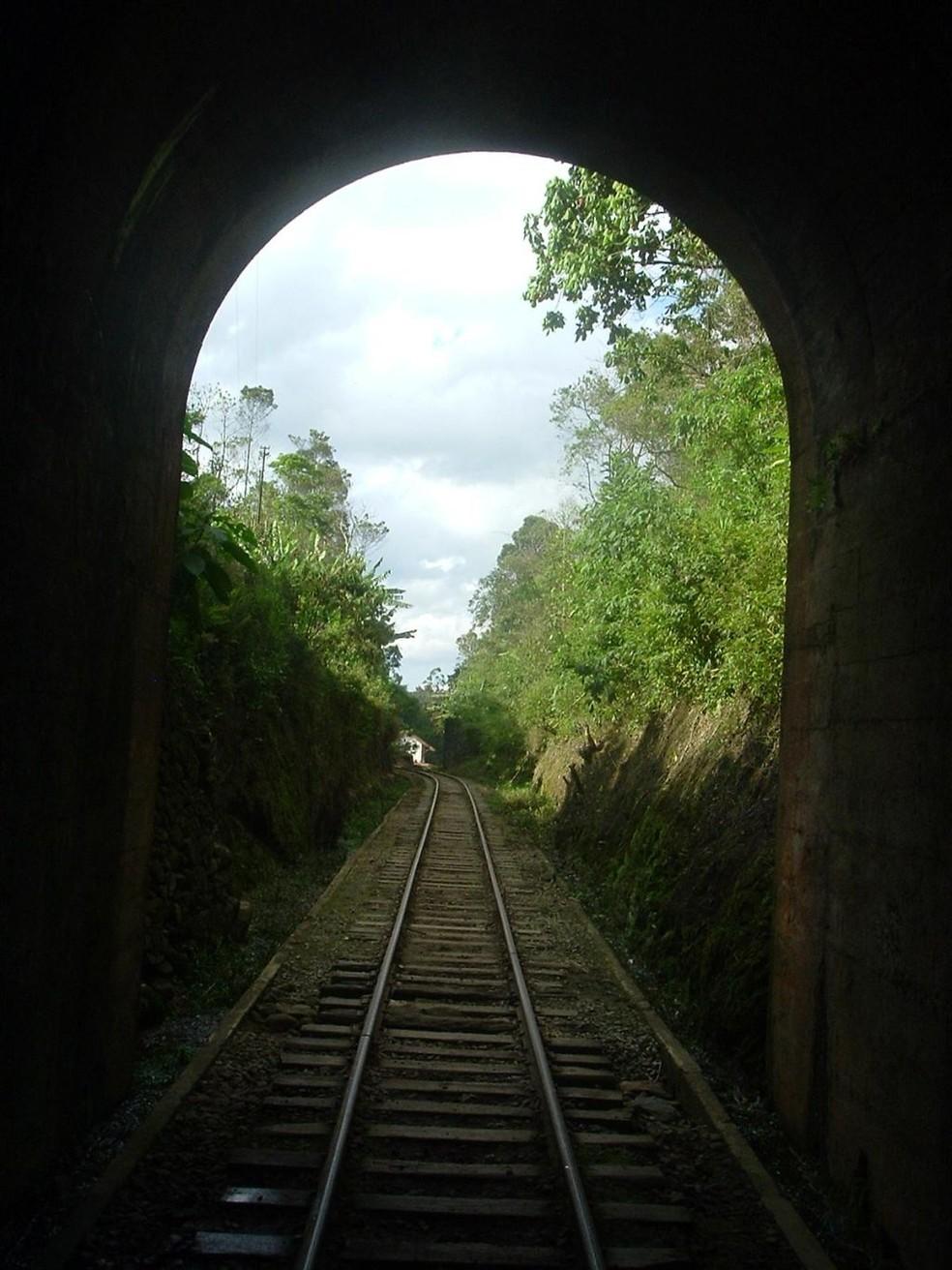 Túnel do Trem da Mantiqueira — Foto: Associação Brasileira de Preservação Ferroviária (ABPF)
