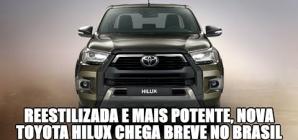 Novos Hilux e SW4, com 204 cv, a caminho do Brasil