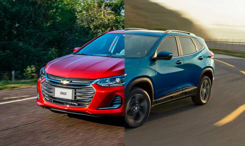 Chevrolet Onix e Chevrolet Tracker