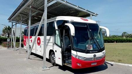 Primeiro ônibus elétrico movido a energia solar começa a circular no Brasil