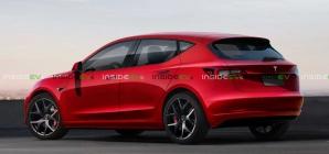 Hatch elétrico 'popular' da Tesla tem visual especulado em projeção