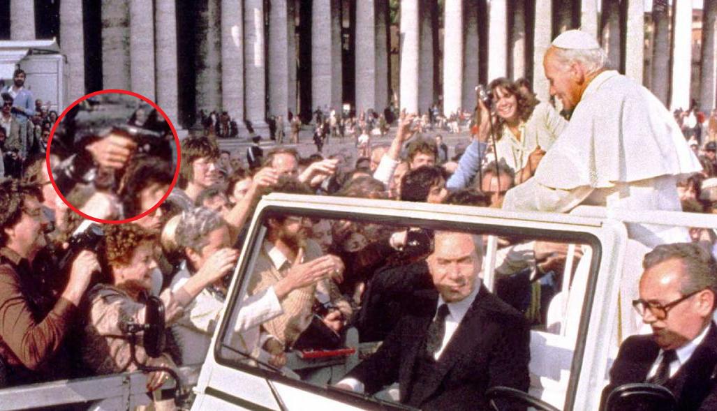 Papa João Paulo antes de ser baleado