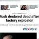 Morte de Elon Musk em explosão é 'fake news'