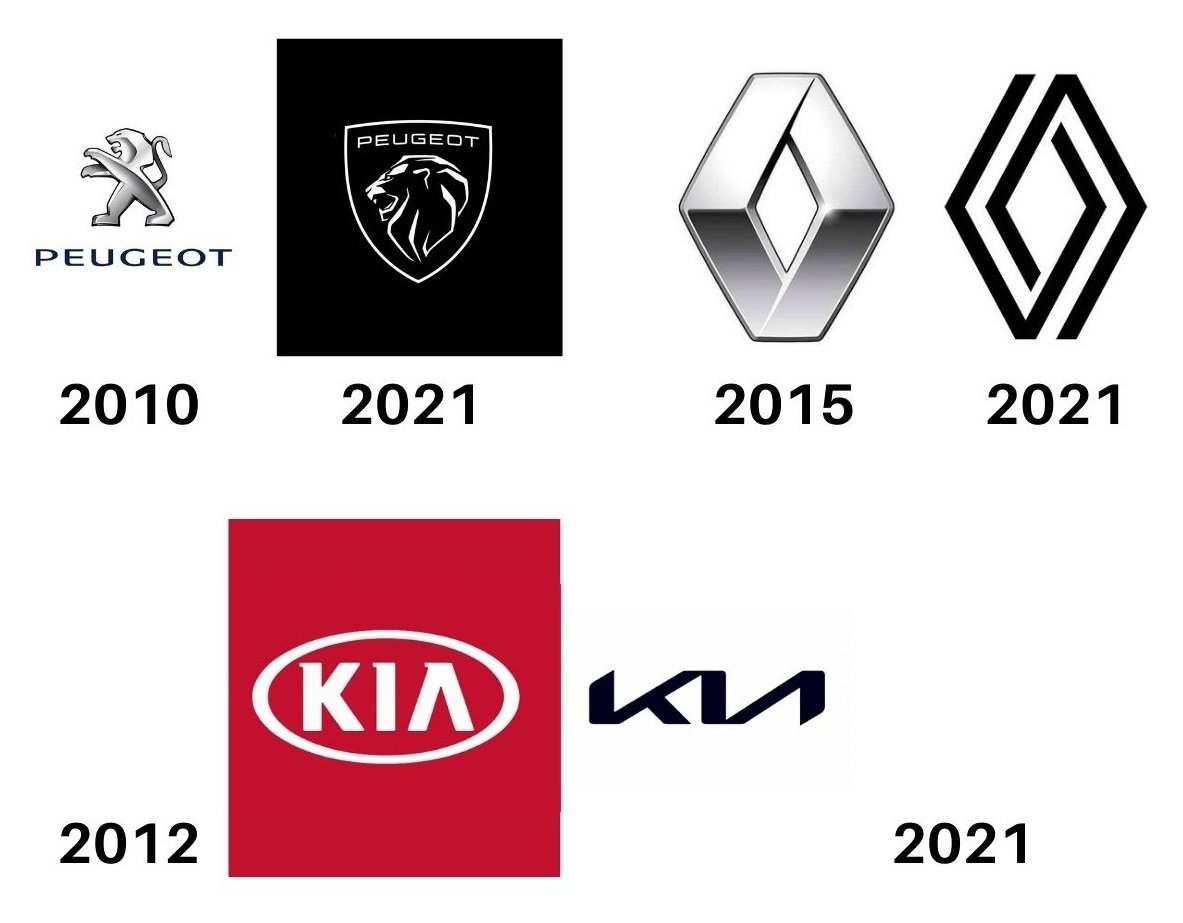 logos peugeot renault kia